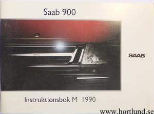 1990 SAAB 900 Instruktionsbok