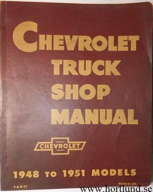 1948-1951 Chevrolet Truck Shop Manual