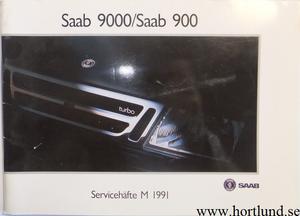 1991 SAAB 900 / 9000 Servicehäfte utg. 2