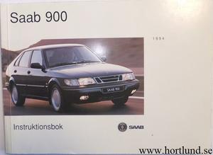 1994 SAAB 900 Instruktionsbok