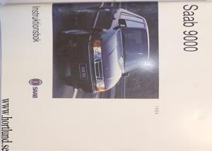 1994 SAAB 9000 Instruktionsbok