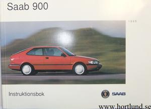 1995 SAAB 900 Instruktionsbok