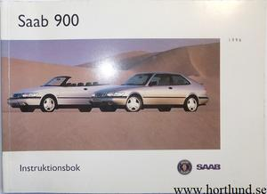 1996 SAAB 900 Instruktionsbok