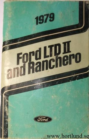 1979 Ford LTD II and Ranchero Owners Manual