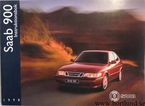 1998 SAAB 900 Instruktionsbok