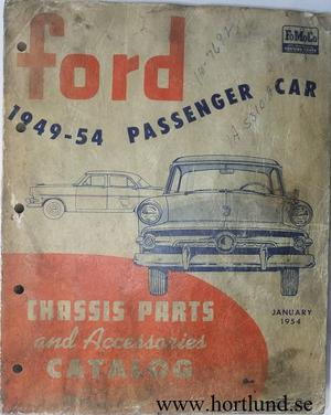 1949 - 1954 Ford car Chassis Parts and Accessories Catalog