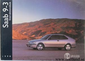 1998 SAAB 9-3 Instruktionsbok