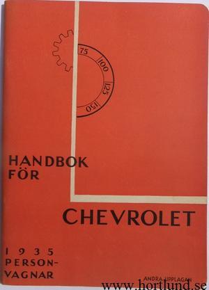 1935 Chevrolet Personvagnar Instruktionsbok svensk