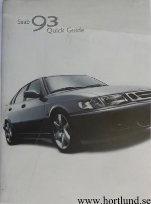 2002 SAAB 9-3 Instruktionsbok