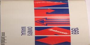 1969 AMC Ambassador Owner's Manual