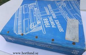 1988 Pontiac Product Service Publications alla modeller