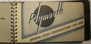1938 Chrysler & Plymouth Optional Color Combinations