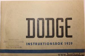 1939 Dodge Instruktionsbok svensk
