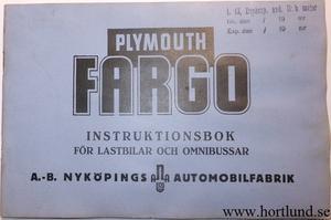 1939 Fargo FH & FHD Instruktionsbok svensk