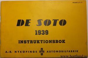 1939 De Soto SP7 Instruktionsbok svensk