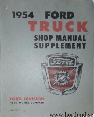 1954 Ford Truck Shop Manual supplement