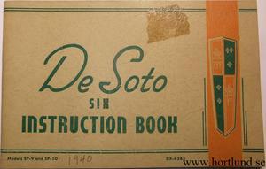1940 De Soto Six SP-9 & SP-10 Instruction Book