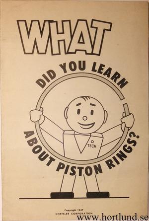 1947 MoPar Piston Rings