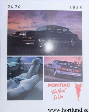 1988 Pontiac 6000 broschyr