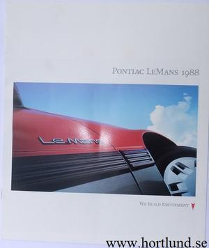 1988 Pontiac Le Mans broschyr
