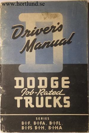 1948 - 1949 Dodge Truck Driver's Manual