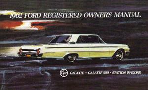 1962 Ford Instruktionsbok