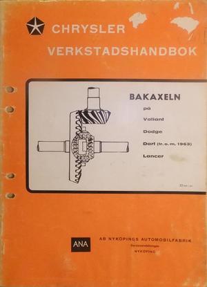 1964 Chrysler Verkstadshandbok Bakaxeln svensk original