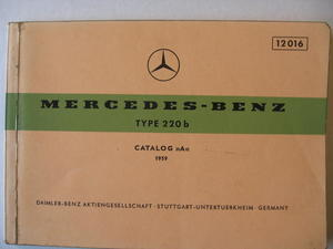 1959 Mercedes-Benz 220 b Reservdelskatalog