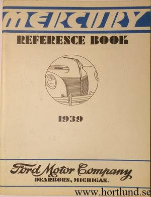 1939 Mercury Reference Book