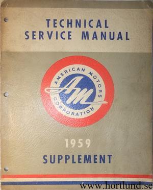 1959 Rambler Technical Service Manual supplement
