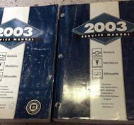 2003 Chevrolet Venture Pontiac Montana Oldsmobile Silhouette Service Manual