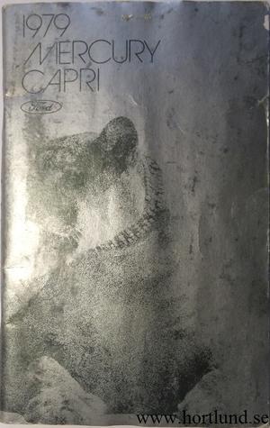 1979 Mercury Capri Owners Manual