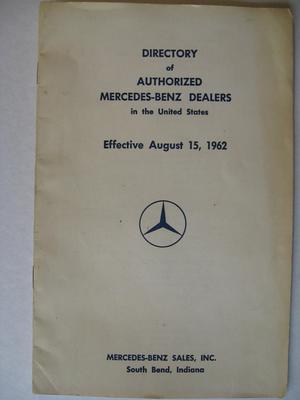 1962 Mercedes-Benz återförsäljare USA