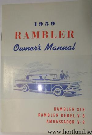 1959 Rambler Six, Rebel och Ambassador Owner's Manual