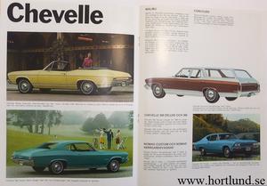 1968 Chevrolet Försäljningsbroschyr Chevrolet Chevelle Camaro Chevy II Nova Corvair Corvette svensk