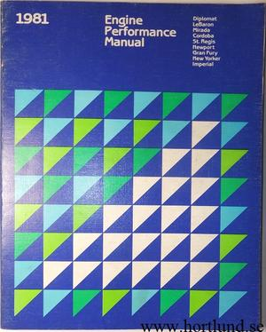1981 Imperial Chrysler Dodge Plymouth Engine Performance Manual