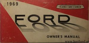 1969 Ford full size Owners Manual 1:st edit