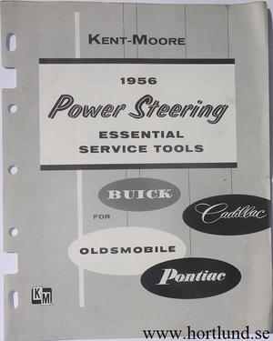 1956 Buick Cadillac Oldsmobile Pontiac Power Steering Essential Service Tools Kent-Moore