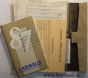 1987 Plymouth Caravelle Operating Instructions
