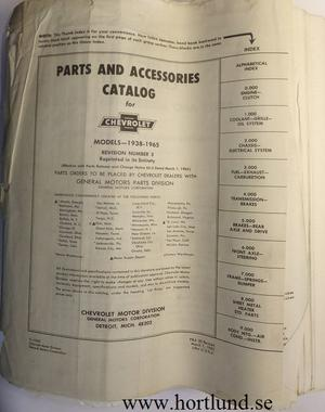 1938 - 1965 Chevrolet Parts and Accessories Catalog Revised