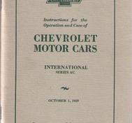 1929 Chevrolet International Series AC Instructions