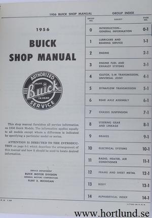 1956 Buick Shop Manual original