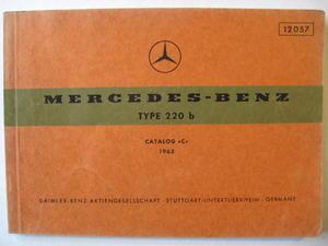1963 Mercedes-Benz 220 b Reservdelskatalog