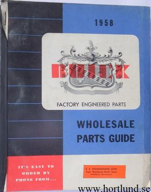 1957 Buick Wholesale Parts Guide