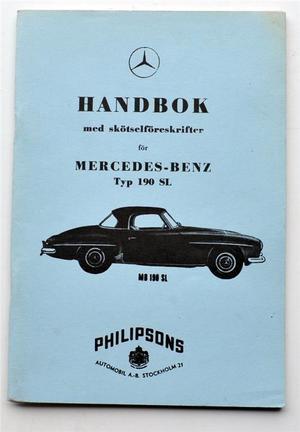 Mercedes-Benz typ 190 SL Handbok VARNING