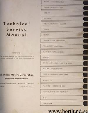 1964 Rambler American Technical Service Manual