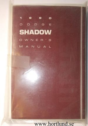 1990 Dodge Shadow Operating Instructions