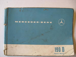 1961 - 1965 Mercedes-Benz 190 Dc Owner's Manual