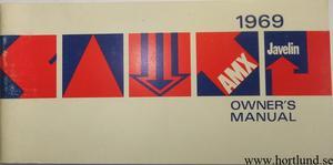 1969 AMC Javelin & AMX Owner's Manual