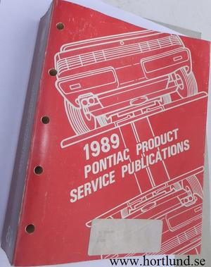 1989 Pontiac Product Service Publications alla modeller
